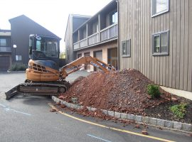 Excavation of a sewer line in Hillsborough